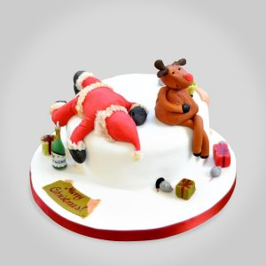 Torta Navidad Papanoel Ebrio